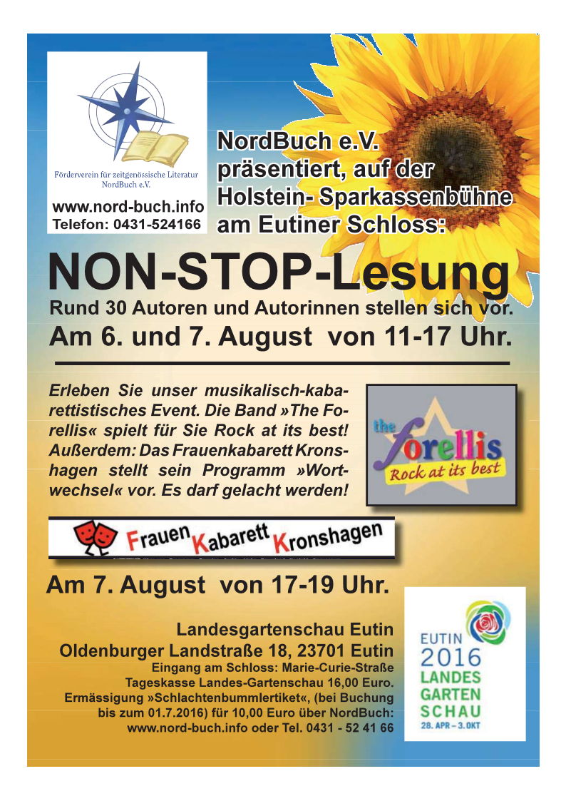 NON-STOP-LESUNG am 6. und 7. August in Eutin!