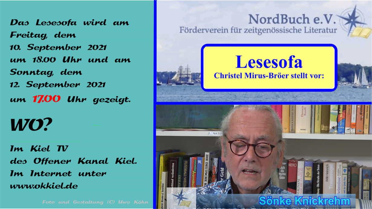 Lesesofa: Sendehinweis Sönke Knickrehm